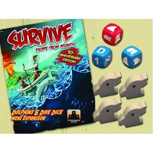 Survive: Escape from Atlantis! Dolphins & Dive Dice Mini Expansion - разширение за настолна игра