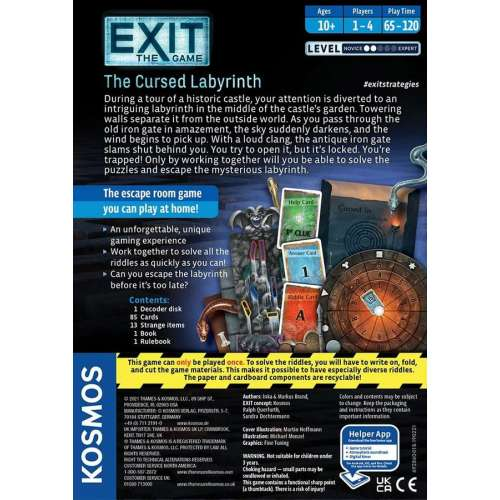Exit: The Game – The Cursed Labyrinth - настолна игра