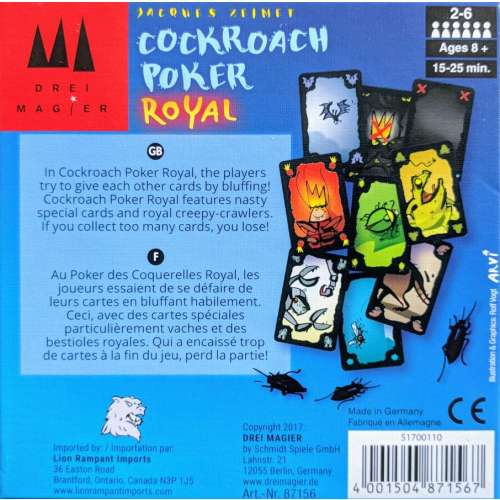 Cockroach Poker Royal - настолна игра