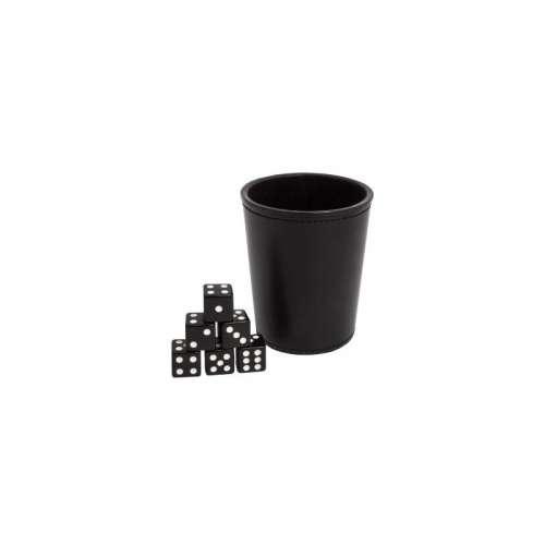 Blackfire Dice Cup + 6 Dice - Black