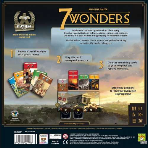 7 Wonders (Second Edition) - настолна игра