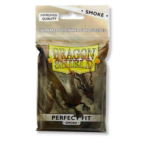 Dragon Shield Standard Perfect Fit Sleeves (Clear/Smoke) - 63 mm х 88 mm