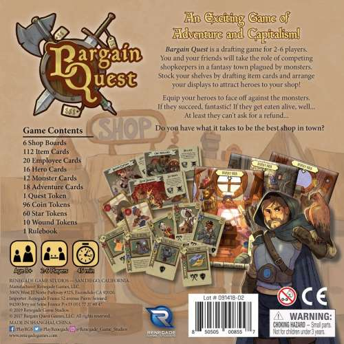 Bargain Quest - настолна игра