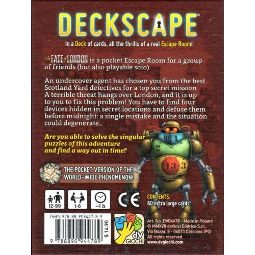 Deckscape: The Fate of London - настолна игра