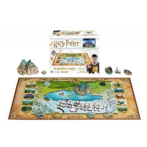 Harry Potter: The Wizarding World of Hogwarts and Hogsmead 4D Puzzle - пъзел