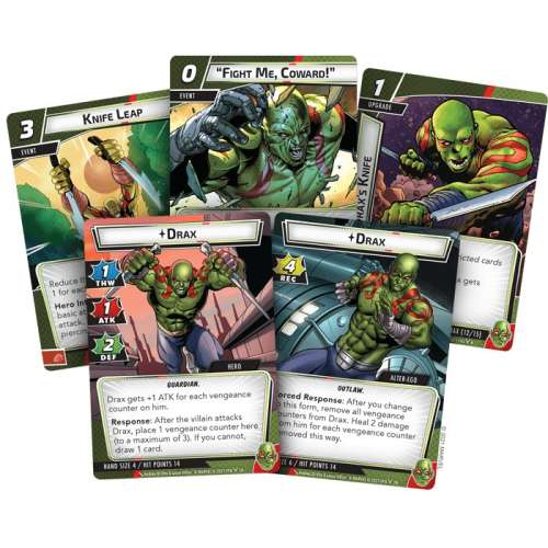 Marvel Champions: The Card Game – Drax Hero Pack - настолна игра