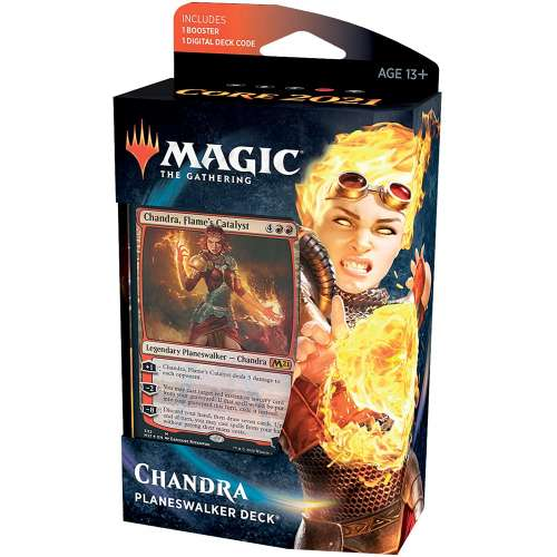 Magic: The Gathering - Chandra Flame's Catalyst Planeswalker Deck (Core Set 2021)