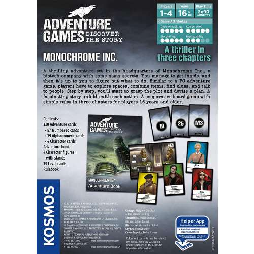 Adventure Games: Monochrome Inc. - настолна игра