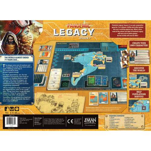 Pandemic Legacy: Season 2 (Yellow Cover) - настолна игра