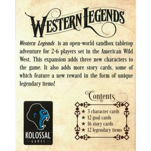 Western Legends: The Good, the Bad, and the Handsome - разширение за настолна игра