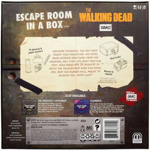 Escape Room in a Box: The Walking Dead - настолна игра