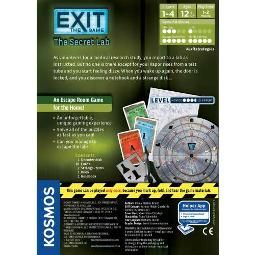 Exit: The Game – The Secret Lab - настолна игра