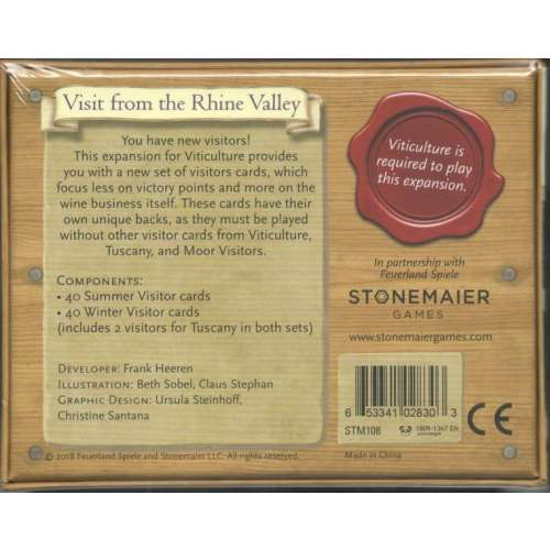 Viticulture: Visit from the Rhine Valley - разширение за настолна игра