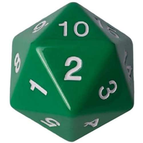 Blackfire D20 Countdown Die 55 mm (Green)