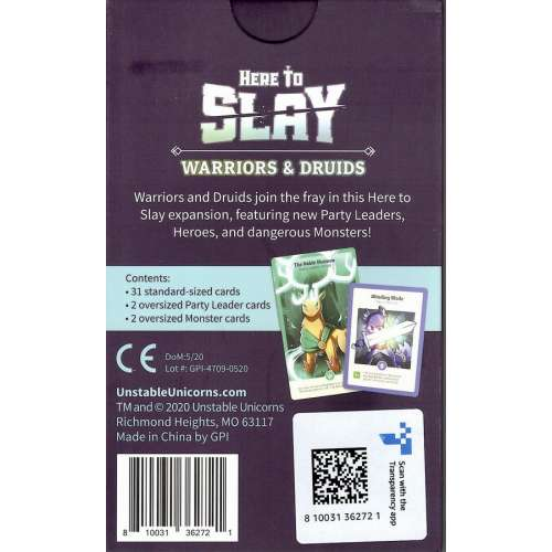 Here to Slay: Warrior and Druid Expansion - разширение за настолна игра