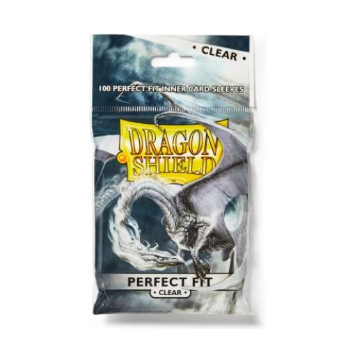 Dragon Shield Standard Perfect Fit Sleeves (Clear) - 63 mm х 88 mm