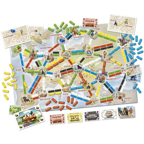 Билет за път: Първото пътешествие (Ticket to Ride: First Journey) - настолна игра