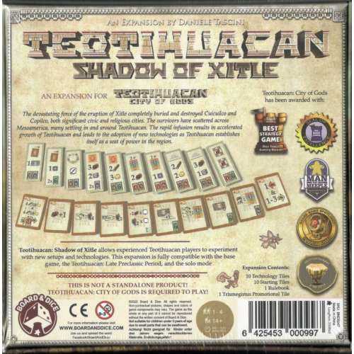 Teotihuacan: Shadow of Xitle - разширение за настолна игра