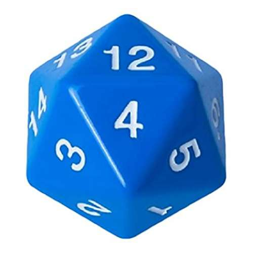 Blackfire D20 Countdown Die 55 mm (Blue)