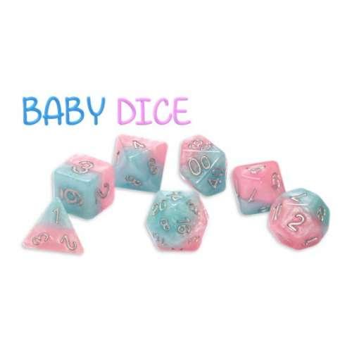 Halfsies Dice - Baby Dice (7 Dice Polyhedral Set)