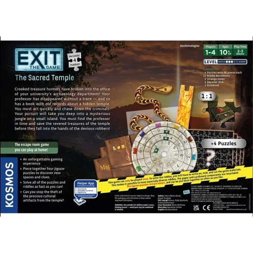Exit: The Game + Puzzle – The Sacred Temple - настолна игра