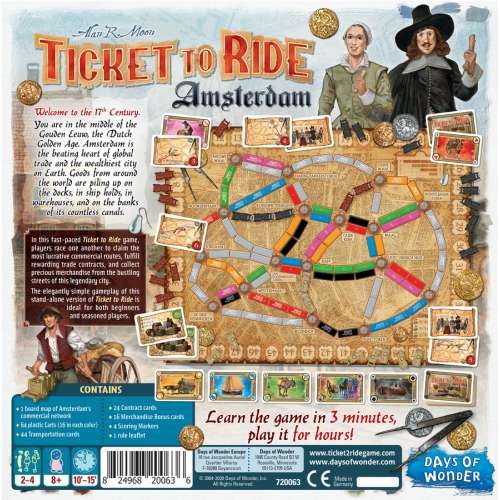 Ticket to Ride: Amsterdam - настолна игра