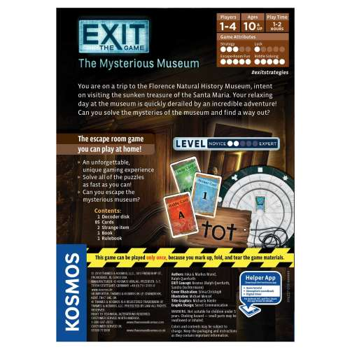 Exit: The Game – The Mysterious Museum - настолна игра