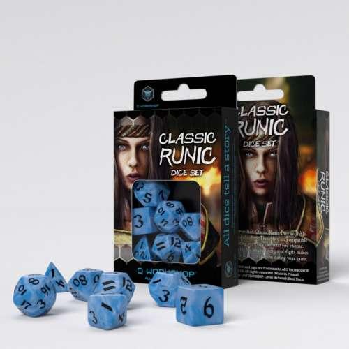 Classic Runic Glacier & Black Dice Set (7)