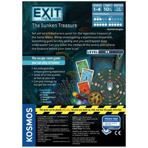 Exit: The Game – The Sunken Treasure - настолна игра