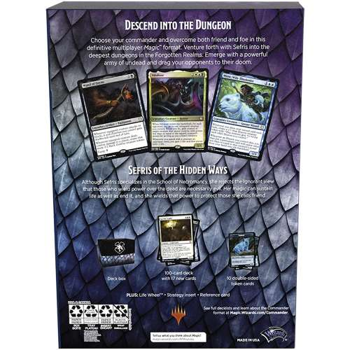 Magic: The Gathering - Adventures in The Forgotten Realms Commander Deck – Dungeons of Death