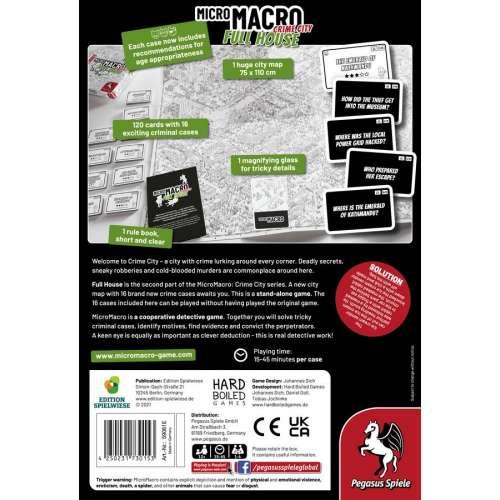 MicroMacro: Crime City – Full House - настолна игра