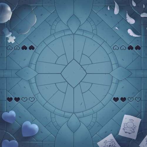 The Binding of Isaac: Four Souls 4-Player Mat
