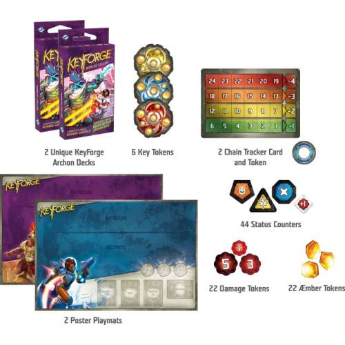 KeyForge: Worlds Collide - 2 Player Starter Set - настолна игра
