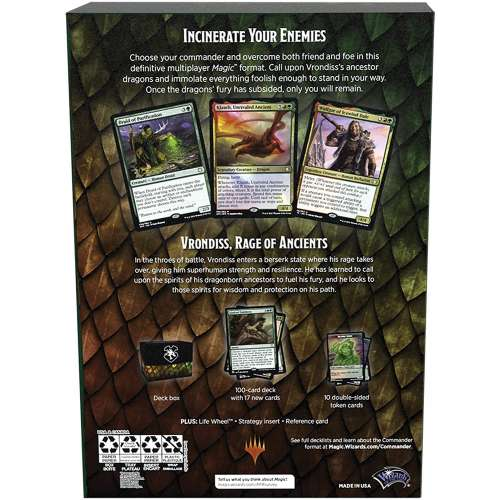 Magic: The Gathering - Adventures in The Forgotten Realms Commander Deck – Draconic Rage