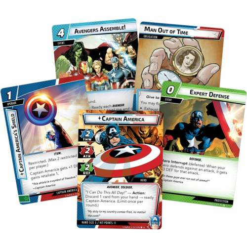 Marvel Champions: The Card Game – Captain America Hero Pack - разширение за настолна игра