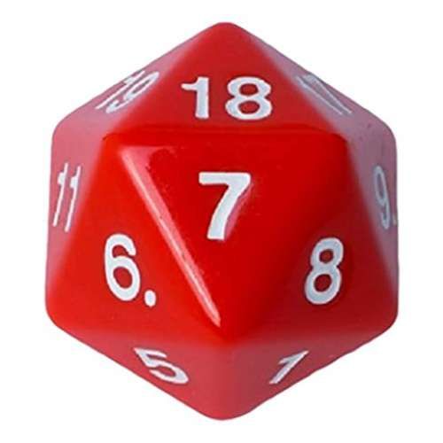Blackfire D20 Countdown Die 55 mm (Red)