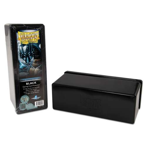 Dragon Shield 4-Compartment Storage Box - Black