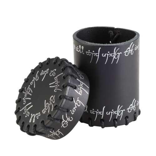 Elvish Black Leather Dice Cup