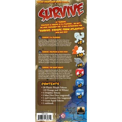 Survive: Dolphins & Squids & 5-6 Players...Oh My! - разширение за настолна игра