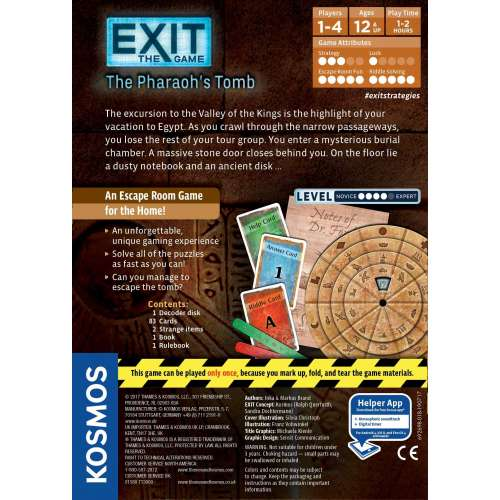 Exit: The Game – The Pharaoh's Tomb - настолна игра