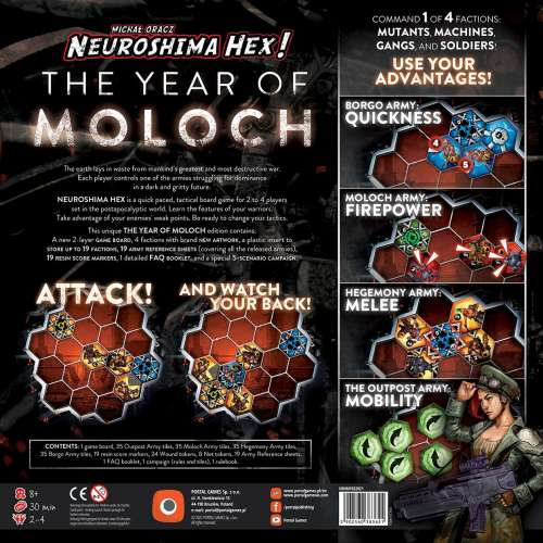 Neuroshima Hex! 3.0: The Year of Moloch (Limited Edition) - настолна игра