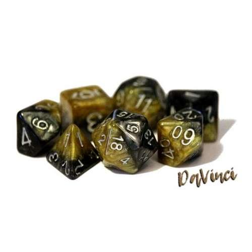 Halfsies Dice - DaVinci (7 Dice Polyhedral Set)