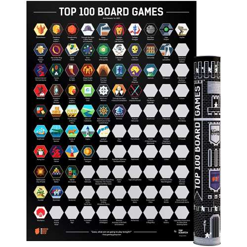 Scratch-Off Poster Top 100 Board Games (2020 BGG Edition)